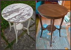 HJERTEHJORT: Fra Trist bord til Lekkert bord! Fixing up an old garden table!