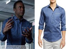 Mason Hewitt(Khylin Rhambo) wears this blue button front shirt in this week's episode of Teen Wolf. It is the INC International Concepts [...]
