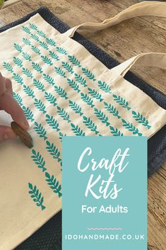 Get creative at home with these craft kits for adults. This range of diy craft projects can all be posted to your home and includes all the supplies you need. Handmade Gifts For Girlfriend, Handmade Gift Tags, Handmade Shop, Handmade Crafts, Diy Crafts, Craft Kits, Diy Craft Projects, Things To Do At Home, Simple Baby Shower