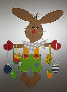 Window picture - rabbits as Easter tree - spring- Easter decoration - cardboard! Easter Arts And Crafts, Bunny Crafts, Creative Activities For Kids, Diy Crafts For Adults, Easter Tree, Easter Eggs, Art Drawings For Kids, Preschool Crafts, Paper Crafts
