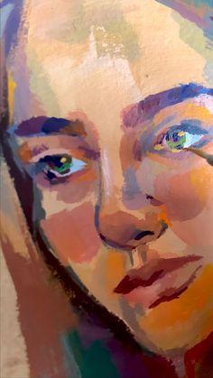 Portrait Art, Acrylic Portrait Painting, Potrait Painting, Painting Of Girl, Painting People, Female Portrait, Figure Painting, Painting Art, Arte Sketchbook