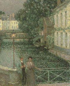 Les amoureux, Gisors,  Henri Le Sidaner. French (1862 - 1939)