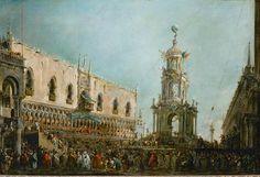 Francesco Guardi (1712-1793). The Feast of Maundy Thursday in Venice. Oil on canvas. c.1766-1770. Musée du Louvre, Paris, France.