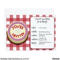 Birthday Cake Invita
