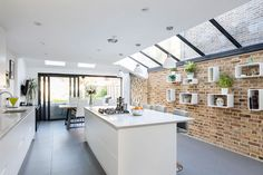 Modern And Sleek Wrap-around Extension in Lacon Road Kitchen Diner Extension, Glass Roof Extension, Open Plan Kitchen Dining, Edwardian House, Wraparound Extension, Open Plan Kitchen Dining Living, Kitchen, Kitchen Extension Glass, Kitchen Interior