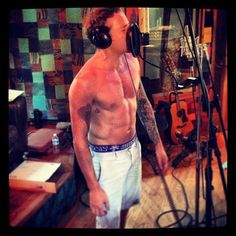Danny recording in his underwear! Beautiful One, How To Run Longer, Swimwear, Musicians, Underwear, Bands, Album, Times, Hot