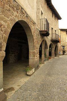 Arcs de Santa Pau  Garrotxa  Catalonia Spain And Portugal, City Streets, Wander, Greece, Barcelona, Around The Worlds, Exterior, Italy, Spaces