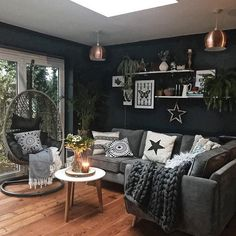 57 grey small living room apartment designs to look amazing 47 Minimalist Living Room Amazing Apartment Designs Grey Living Room Small Navy Living Rooms, Home Living Room, Apartment Living, Living Room Designs, Living Room Decor, Dark Grey Walls Living Room, Grey Room, Dining Room, Snug Room