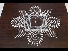 margazhi kolam designs with 7 to 1 dots || dhanurmasam muggulu designs || easy rangoli designs - YouTube