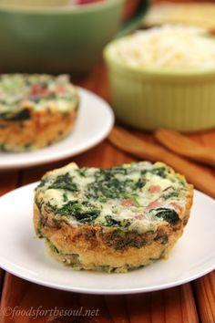 Egg White, Ham, & Spinach Quiches