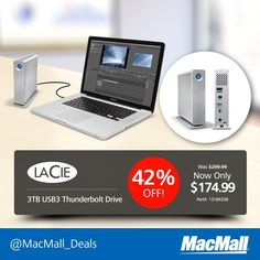 Save 42% on a #LaCie 3TB #USB3 Thunderbolt drive at MacMall. #DailyDeal