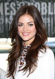 Lucy Hale's Long Layers Longer hair often needs a bit of shorter layering to avoid falling flat and Lucy Hale's is no exception with chin-length layers blown out for a fuller face-framing effect. - March 03 2019 at Party Hairstyles For Long Hair, Face Shape Hairstyles, Haircuts For Long Hair, Straight Hairstyles, Cool Hairstyles, Wedding Hairstyles, 1950s Hairstyles, Hairstyle Men, Homecoming Hairstyles