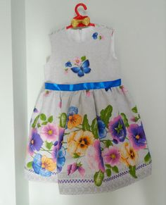 Spring flower girl dress easter dress ukrainian by NTyravskaDesign