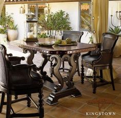 Safari Destination Decor Inspiration Tommy Bahama Home Sienna Bistro Table Inspired By