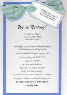 We are nesting!! invitation