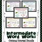 Word Work Getting Started Intermediate BUNDLE---  97% of all affixed words begin or end with 8 primary suffixes and prefixes.  I have selected 5 Wo...