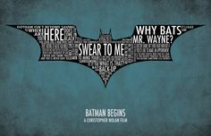 Batman Begins Typography Poster. $15.00, via Etsy.
