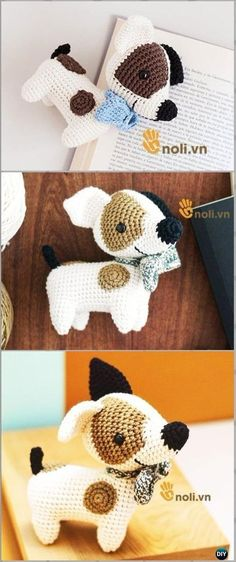 Crochet Amigurumi Dog Jack Free Pattern - Amigurumi Puppy Dog Stuffed Toy Patterns by Claire Greenslade
