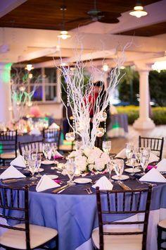 Elegant purple  whi www.mccormick-weddings.com