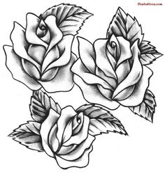 And Rose Tattoos Tattoo Desings Trendy Models Laser Formgebung Pixel Rose Tattoo Stencil, Rose Drawing Tattoo, Tattoo Outline, Tattoo Sketches, Tattoo Drawings, Vine Drawing, Tattoo Art, Art Drawings, Rose Tattoos For Men