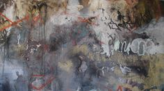 José Parlá Shrubland Road  2005  4 x 7 acrylic, oil paint, ink, enamel spray paint, plaster and saw dust on wood