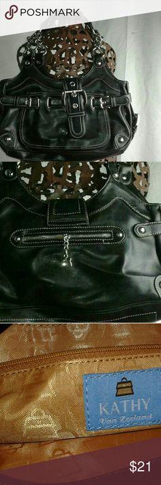 Kathy van zeeland purse Black purse great condition Kathy Van Zeeland Bags Shoulder Bags
