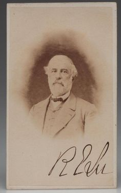 What I assume is a rare photo of Robert E. Lee signed by him.  I have never before seen this published.