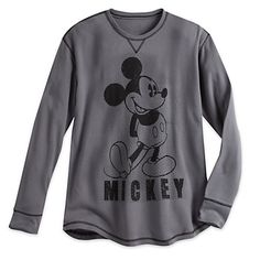 Mickey Mouse Long Sleeve Thermal Tee for Men