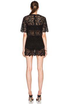 Cotton-Blend Lace Overlay Dress