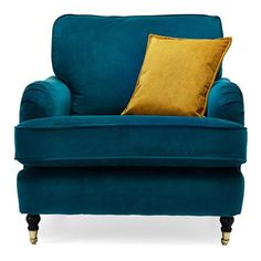 Leather Accent Chairs with Arms - Best Color Furniture for You Furniture, Flat Furniture, Curtains Living Room, Teal Rooms, Teal Bedding, Teal Living Rooms, Teal Armchair, Furniture For You, Colorful Furniture