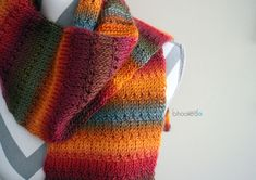 Knit Alike Tunisian Crochet Scarf - free pattern and video at B.hooked Crochet