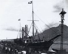 Table Bay Harbour, Cape Town, illuminated from April Vintage Photographs, Vintage Photos, Port Elizabeth, African History, Africa Travel, East London, Old Pictures, Cape Town, South Africa
