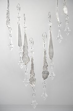 Silver Spoon Icicle Ornaments