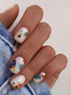 Nagellack Design, Nagellack Trends, Manicure Y Pedicure, Gel Nails, Manicure For Short Nails, Shellac Nail Art, Short Nails Art, Minx Nails, Stylish Nails