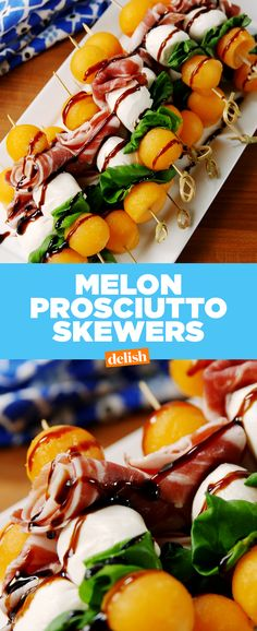 Melon Proscuitto Skewers taste like you're vacationing in Italy. Get the recipe from Delish.com.m
