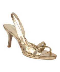 Look at this #zulilyfind! Gold Kadie Sandal by Naturalizer #zulilyfinds