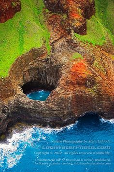 Open ceiling cave - Na Pali coast, Kauai, Hawaii. We went inside it on our catamaran!
