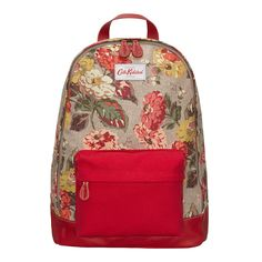 Leather Bags & Accessories | Autumn Bloom Canvas & Leather Backpack | CathKidston
