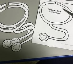 """""""Cutting out the stethoscopes for community helpers week. Can't wait to see the kiddos wear these…"""" preschool community helper theme activities - 4 year old"""