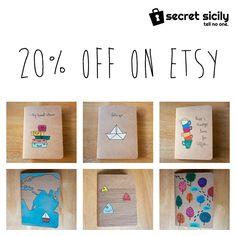 Sign up to Secret Sicily mailing list and get 20% off on Etsy (offer ends 10 May 2015).