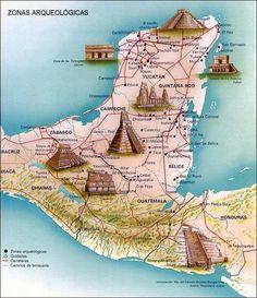 Rutas Mayas - Mayan ruins in Central America