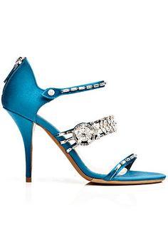 Sensible heel, sensational color, and shimmer. Salute!  ...