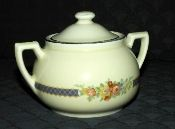 Hall China Blue Bouquet Boston Sugar Bowl
