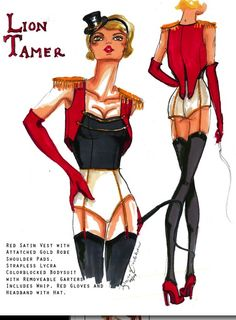 lion tamer. This is the perfect style costume I want to use for my next performance