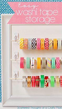 Easy Washi Tape Storage