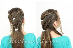 Recreation of a #GamofThrones hairstyle from Daenerys. She wears it in season three.