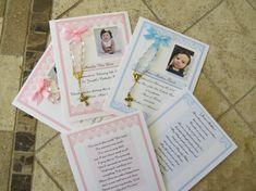 24 BAPTISM FAVORS rosary cards by annthompson121 on Etsy