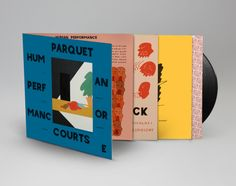 The cover for Parquet Courts third album, Human Performance, features a painting by vocalist and guitarist Andrew Savage, who has designed covers for eac. Cd Design, Album Design, Book Design, Cover Design, Graphic Design, Vinyl Cover, Cover Art, Vending Machine Diy, Vending Machines