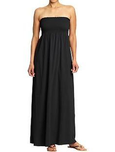 Women's Smocked Maxi Tube Dress (Black Jack). Old Navy. $32.94