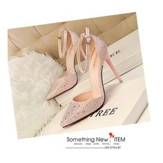 """Women's Shoes High Heel Pumps Pointed Toe Sandals - Please use the size chart below to select the correct size Pump Type: Basic Lining Material: PU Style: Fashion Occasion: Party Fit: Fits smaller than usual. Please check this store's sizing info Heel Type: Thin Heels Closure Type: Slip-On Platform Height: 0-3cm Heel Height: Super High (8cm-up) Insole Material: Rubber With Platforms: Yes is_handmade: Yes US European Inches Centimeters 4 35 8.1875"""" 20.8 (cm) 4.5 35 8.375"""" 21.3 (cm) 5 35 - 36…"""